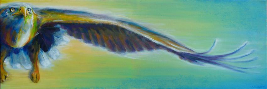 Der Adler als Krafttier, gemalt, Kunst - Malerei von Sabine Koschier