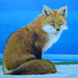Krafttier Fuchs Malerei der Künstlerin Sabine Koschier