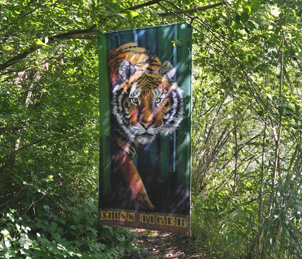 Dein Krafttier Tiger Druck auf Badetuch