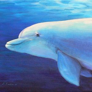 Delfin Krafttier Bedeutung Malerei Kunst