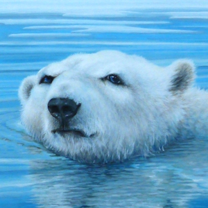 Eisbär Krafttier Bedeutung Kunst Malerei