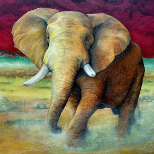 Elefant Krafttier Bedeutung Kunst Malerei