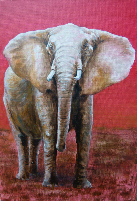Krafttier Elefant, Kunstwerk der Künstlerin Sabine Koschier