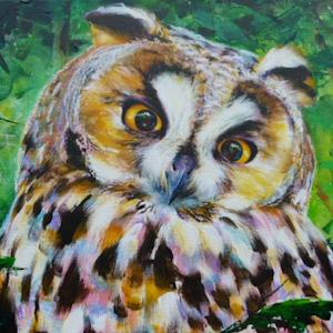 Eule Krafttier Bedeutung Malerei Kunst