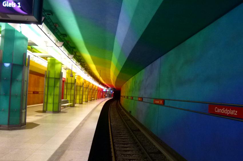 Bahnhof Candidplatz München Innenraumgestaltung