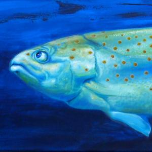 Fisch Krafttier Bedeutung Malerei Kunst der Künstlerin Sabine Koschier