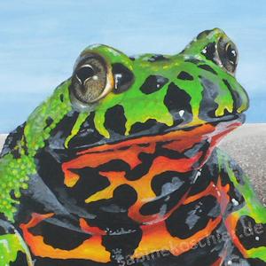 Frosch Krafttier Bedeutung Malerei Kunst