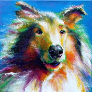 Hund Krafttier Bedeutung Malerei Kunst
