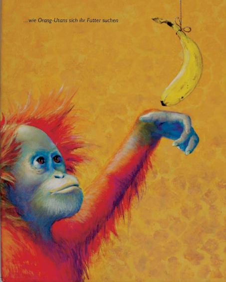 Seite 20 Kunst-Bilderbuch JACKY - ein Orang-Utan sucht den Dschungel von Sabine Koschier