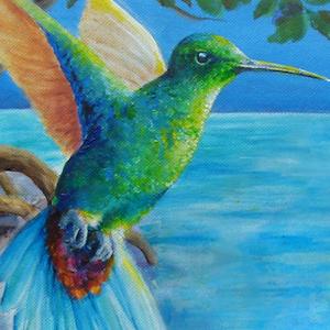 Kolibri Krafttier Bedeutung Malerei Kunst