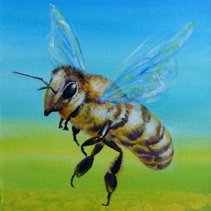 Biene oder Honigbiene Krafttier Bedeutung Malerei Kunst