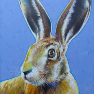 Hase Kaninchen Krafttier Bedeutung Malerei der Künstlerin Sabine Koschier