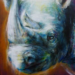 Nashorn Krafttier Bedeutung Kunst Malerei