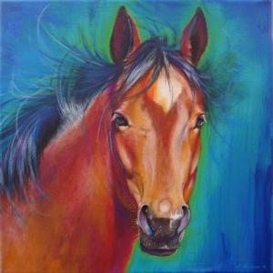 Pferd Krafttier Bedeutung gemalt Kunst