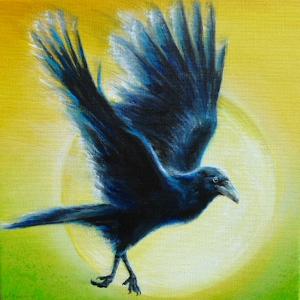 Rabe Krafttier Bedeutung Malerei Kunst