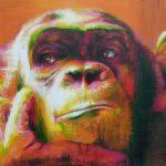 Dein Krafttier Affe Malerei