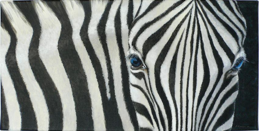 Zebra Krafttier Malerei Bedeutung