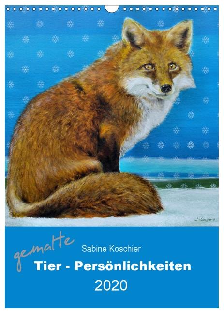 gemalte Tier - Persönlichkeiten Kalender 2020