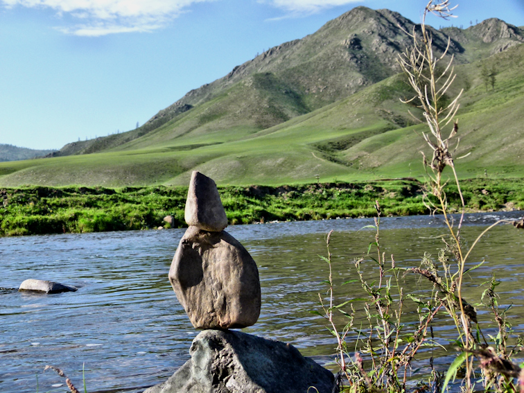 Bei Schamanen: Steine und Heilrituale