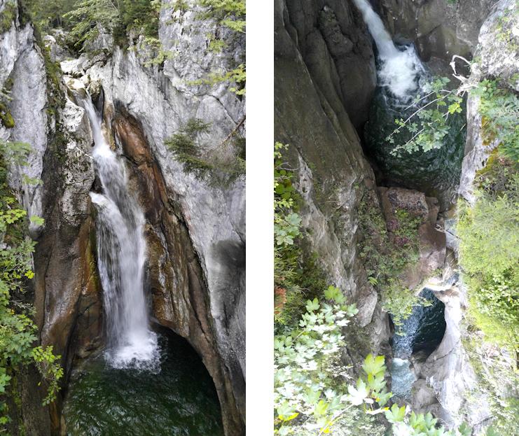 Oberer Wasserfall am Tatzelwurm