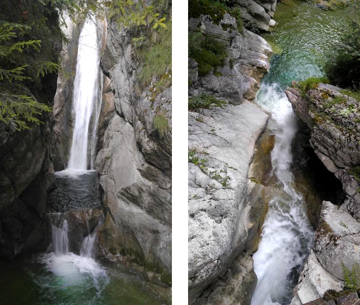 Gumpen Wasserfall und Schlucht