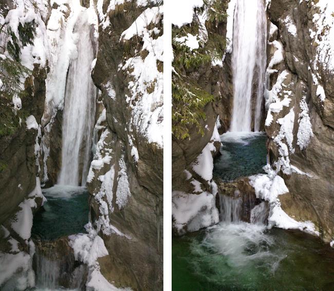 Tatzelwurm Wasserfälle im Winter