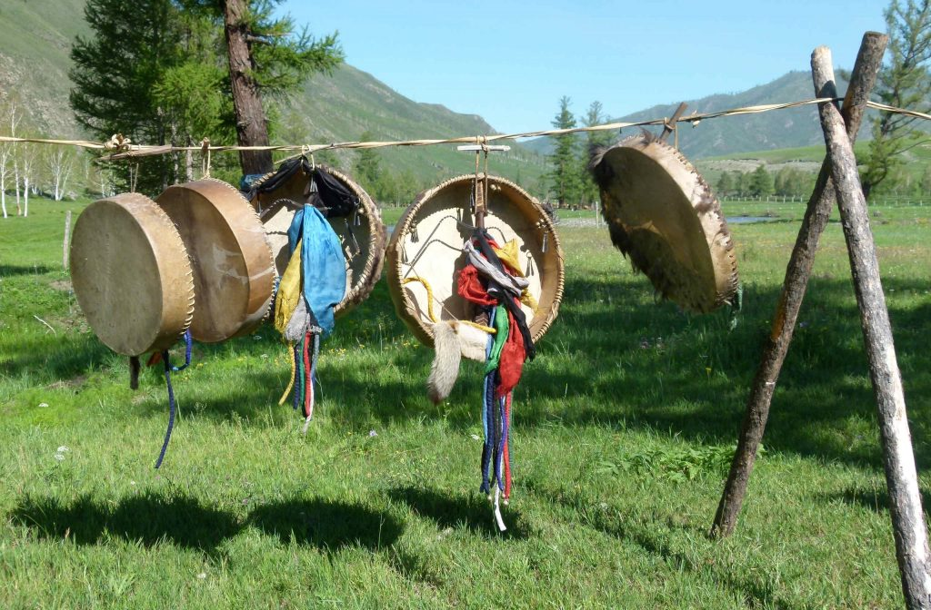 Bei Schamanen: die Schamanentrommel