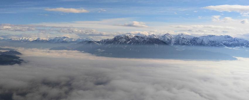 Ausblick ins Inntal und in die Bergwelt