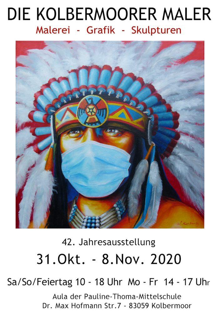 Jahresausstellung der Kolbermoorer Maler 2020 in Kolbermoor